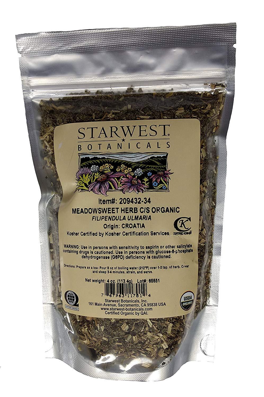 Organic Meadowsweet Herb C/S - 4 Oz (113 G) - Starwest Botanicals