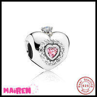 2017 new product Amazon fba wholesale princess heart bracelet beads charms 925 sterling silver jewellery