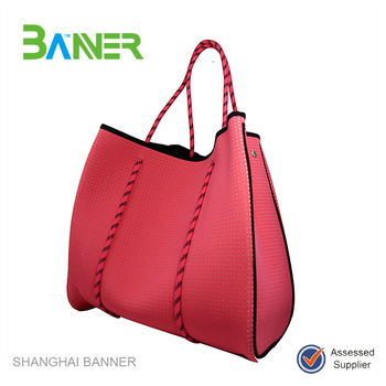 Custom Made Branded Neoprene Chinese Handbags