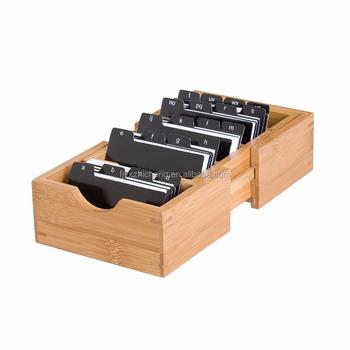 Natürliche Bambus Erweiterbar Rezept Kartenhalter Holz Desktop Papier Visitenkartenhalter Buy Bambus Rezept Karte Box Holz