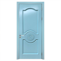 Hot Sale In Israel Popular Model Latest Solid Wooden Single Door Carving Flower Designs