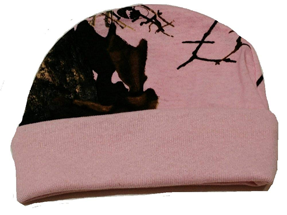 ab66e569148f5 Get Quotations · Pink Mossy Oak Breakup Camo pattern Cotton Jersey Beanie  Infant   Toddler Hat