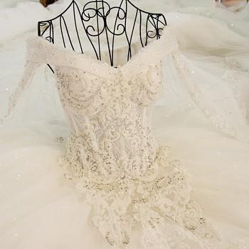 Ls45880 Long Sleeves Taobao Organza Alibaba Modest Wedding Gowns ...