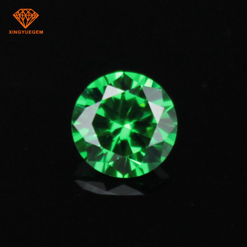 Naranja Cubic Zirconia 6mm Corte brillante redondo AAAAA piedras de grado. 5