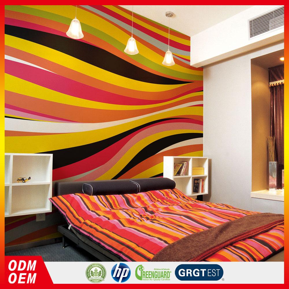 Garis Warna Warni Wallpaper Mode Modern Gaya Elegan Desain