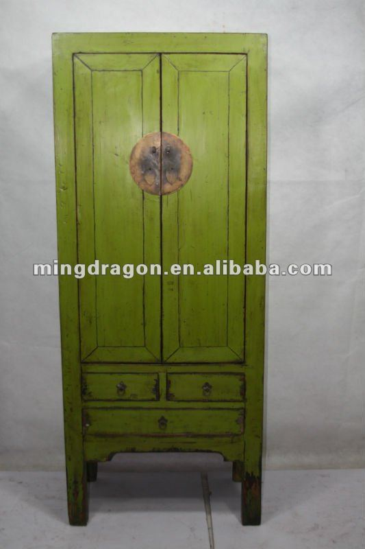 chinese antique two door three drawer wardrobe