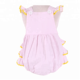 2018 latest design summer sleeveless 100 cotton seersucker baby girls kids soft cute cheap infant bubble rompers