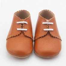 Scarpe fatte a mano Lace Up Tan Leather Oxford Scarpe Bambino Bambino