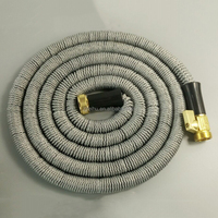 Platinum 100' Expanding Hose, Strongest Expandable Garden Hose on the Planet. Double Latex Core, Extra Strength Fabric, 3/4