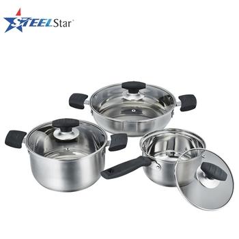 Vente chaude italien ustensiles de cuisine en acier inoxydable pot avec couvercle de pot de - Pot a ustensiles cuisine ...