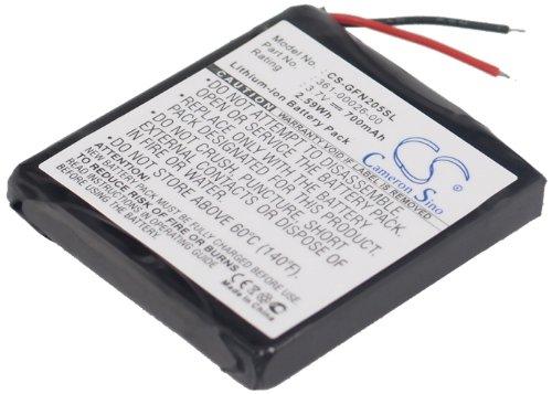 Battery2go Li-ion BATTERY Pack Fits Garmin 361-00026-00, forerunner 205, forerunner 305