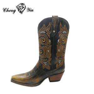Manufacturer China Rubber Outsole Cheap Mexican Western Cowboy Boots