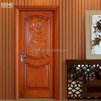 New Wooden Single Door Flower Designs Teak Wood Main Door