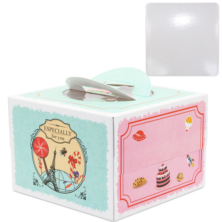 wholesale cake box with window handle custom
