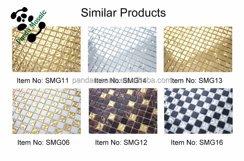 Smg14 Luxury Color Mosaic Adhesive Gl Mirror Tile Sheet