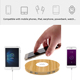 Private mould Mood color Multi USB 4 Ports hub wireless charger Cell Phone Charging Station Support QC3.0 Fast Charging