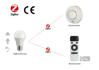 ZigBee wireless led light bulb with remote on off and dimming control