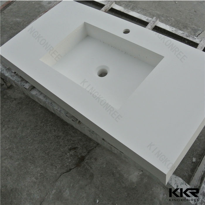 one piece bathroom sink and countertop double sink bathroom vanity rh alibaba com Corian Countertops with Integral Sink Integrated Sink Vanity
