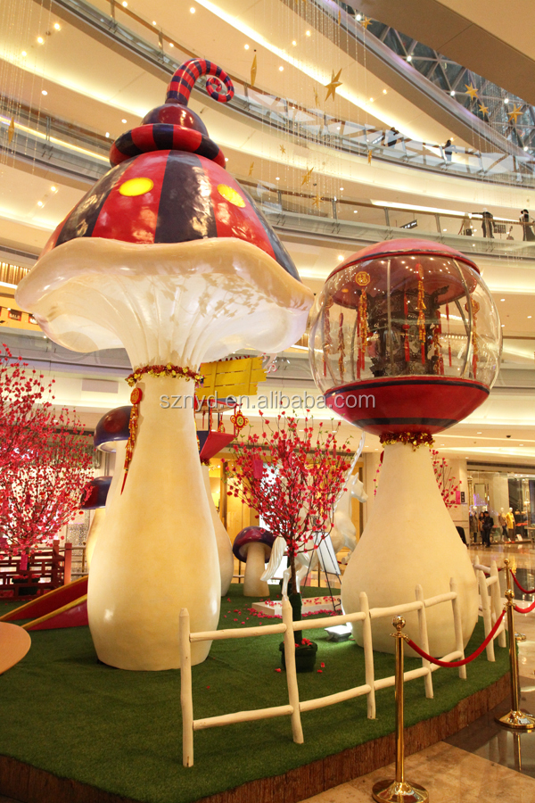 Fancy christmas scenes fashionable mushroom decoration for for Decoration shopping