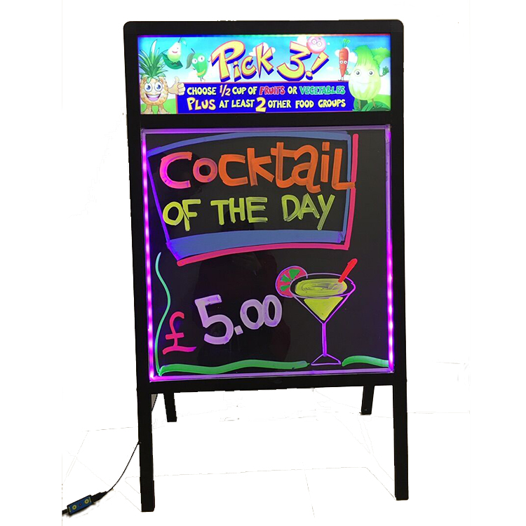 illuminated led chalkboard