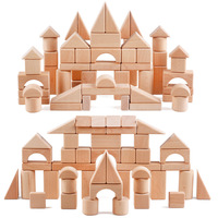 FQ brand hot sell 60 wood blocks kids education small children kid wooden mini blocks