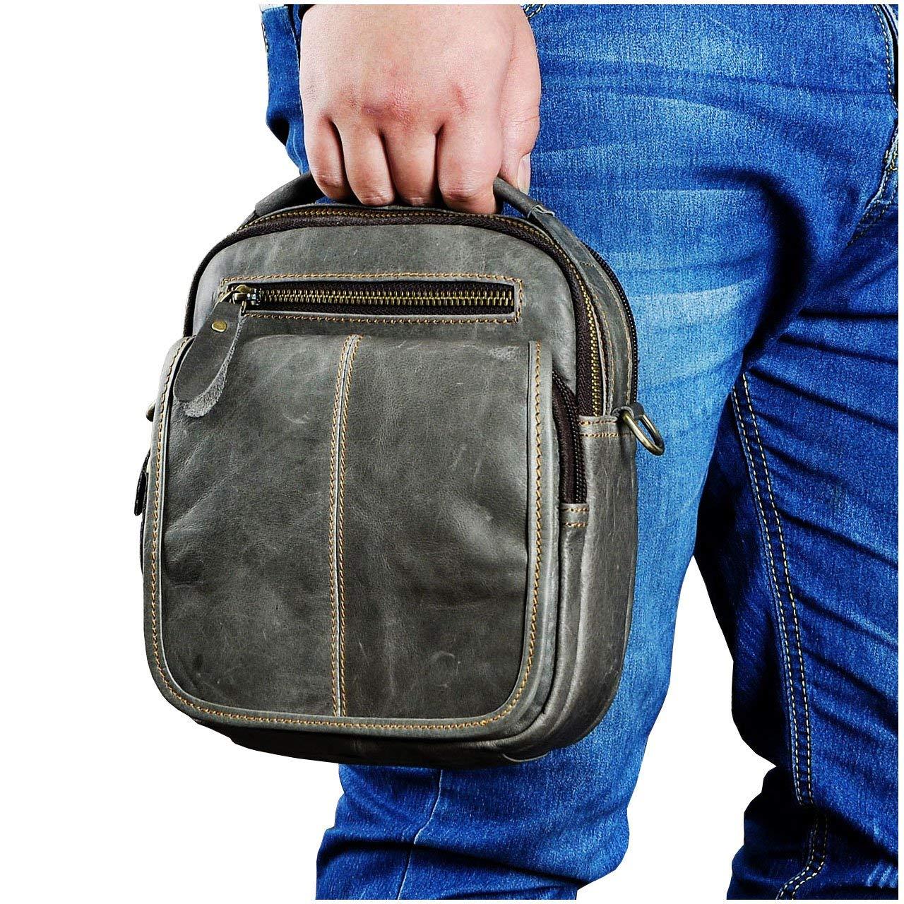Get Quotations · Le aokuu Mens Leather Fashion Designer Casual Messenger  Shoulder Bag Organizer Hunting Fanny Waist Belt 5fc6fcac99cdb