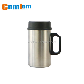 d75c79bccef CL1C-M03 Comlom 12oz Double Wall Stainless Steel Coffee Mug/Coffee Cup/ Insulated