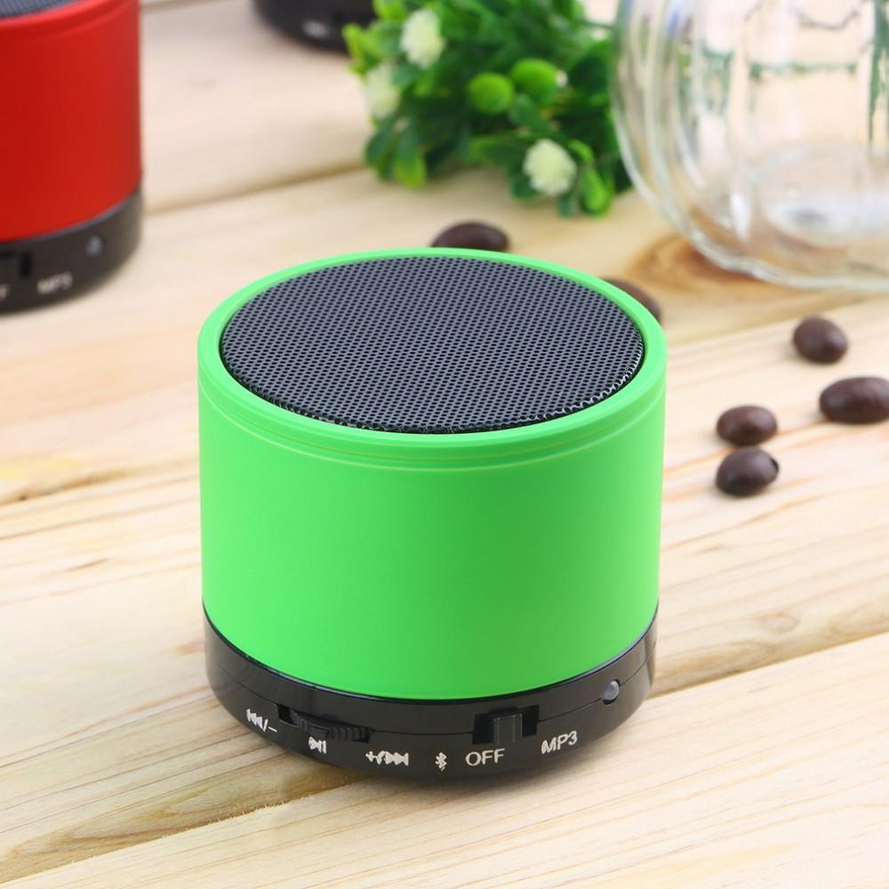<strong>Mini</strong> Round Portable Wireless Metal promotional speaker