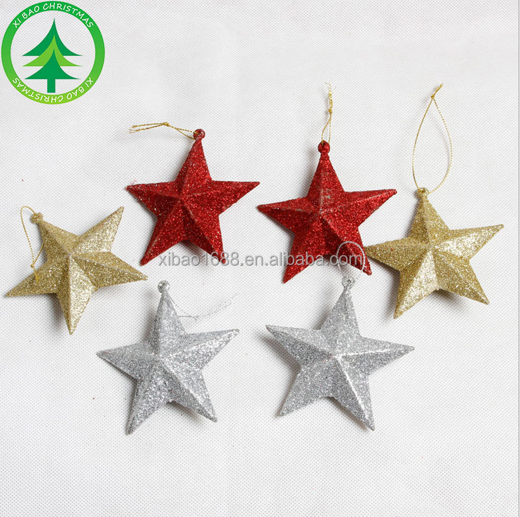 xibao brand tree decoration paper christmas star
