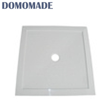 High quality concise design lustrous not breakable drain base cast stone bathroom resin shower tray