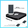 Square Qi Wireless Charger Transmitter with Dual Micro USB Port