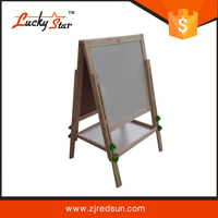 New Wooden Easel Kids Black / White Board Chalk Drawing For Child ...