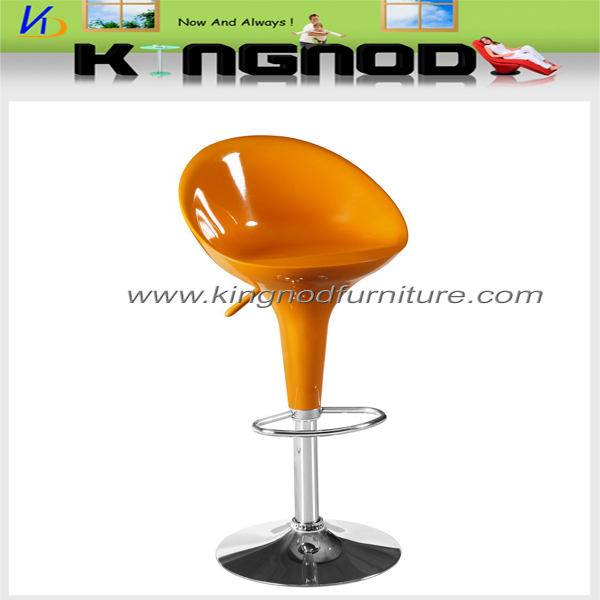 Bar chair with chrome leg and base