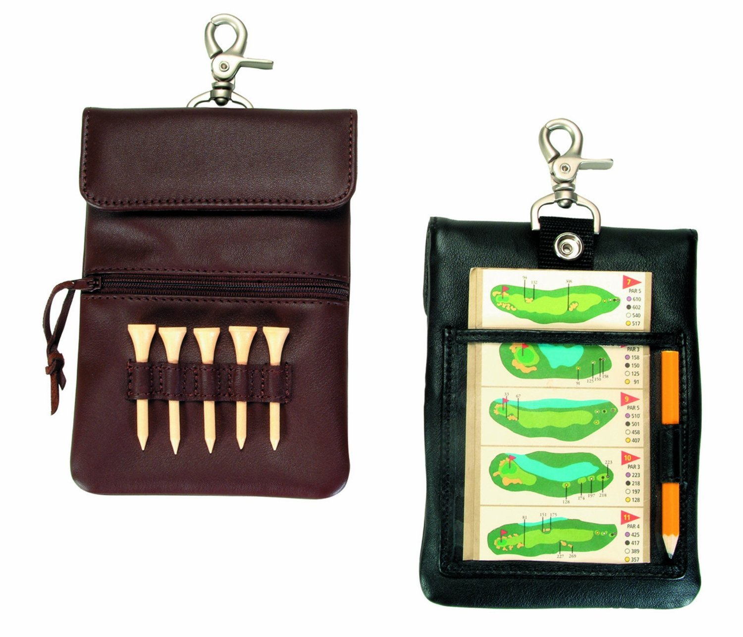 d37f37c23d0e Get Quotations · Royce Leather Clip-on Golf Accessory Bag (Black)