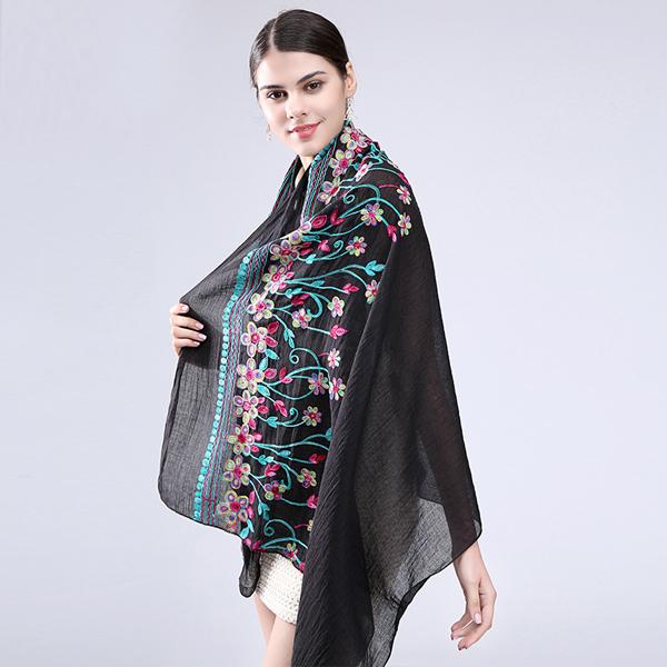 2017 New Floral Design Trendy Knitting Scarf Bandana Buy Trendy
