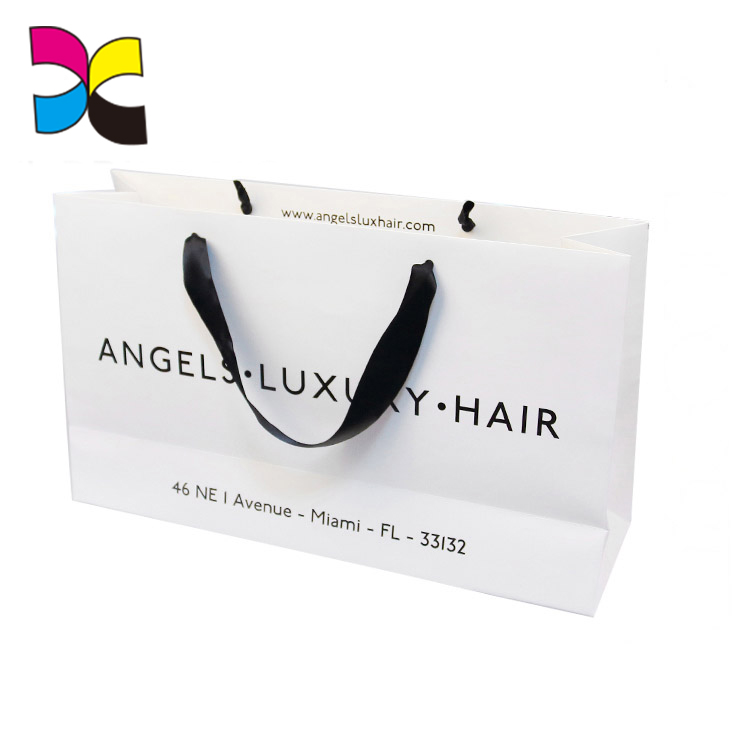 Wholesale custom hot sell paper shopping bag with logo