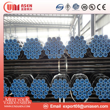 carton steel tube ERW welded round steel pipe