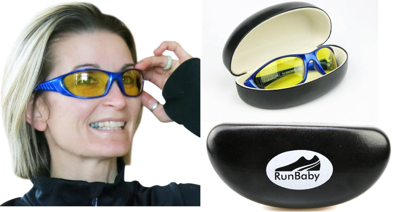 54aecd46c726 Get Quotations · Running Sunglasses   Lightweight Sports Sunglasses for Men  and Women – Best Sunglasses for Running
