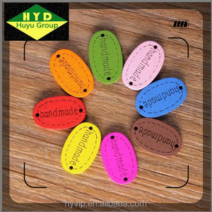 HYD Factory Direct Wooden button Color Oval Handmade Company Laser Logo Decorative Buttons