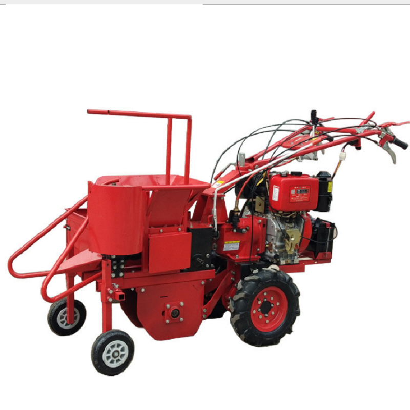 High efficiency low damage rate Petrol/Diesel engine mini corn harvester
