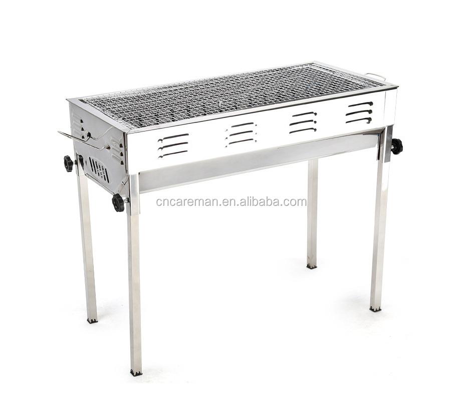 grande taille rectangulaire en acier inoxydable barbecue. Black Bedroom Furniture Sets. Home Design Ideas