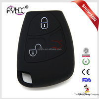Best price flip car key shell silicone car remote fob key cover for mercedes benz