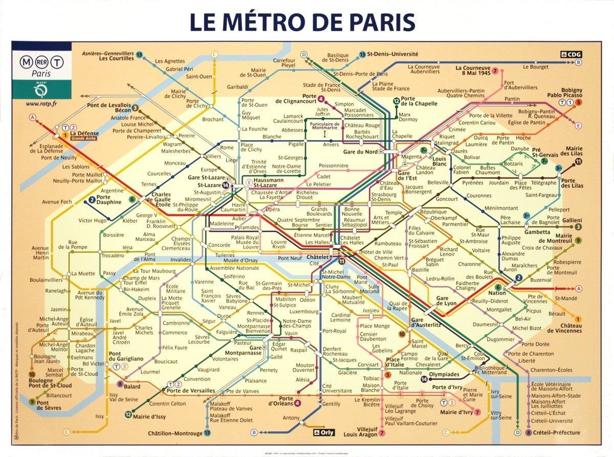 rare posters ratp le metro de paris poster