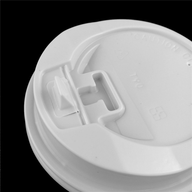 2000pcs/ctn 80mm PS white switch lid cheap custom logo print disposable paper cup cold drink paper cup 80mm PS white switch lid