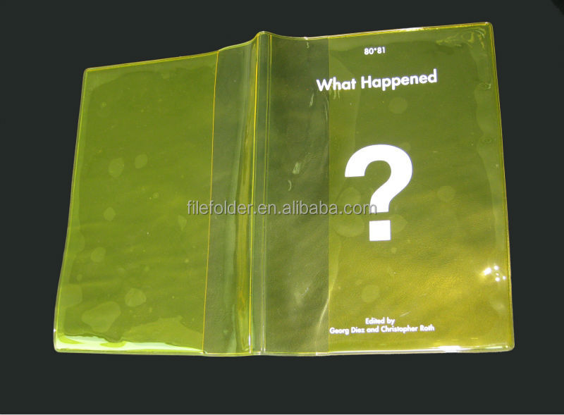 New transparent plastic book covers