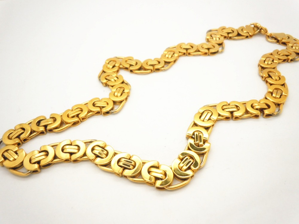 14k Gold Plated Chain Necklace, 14k Gold Plated Chain Necklace ...