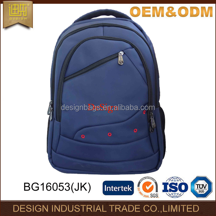 Day use OEM nylon navy backpack sport rusack bag with 3 compartment