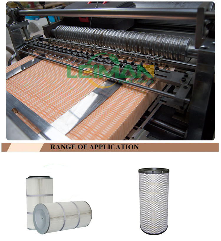 PLPG-350 Full-auto PU panel air filter paper pleating machine