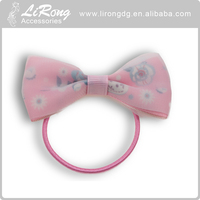 Fashion Custom Fabric Bow Elastic Hair Band Ponytail Holder Wholesale