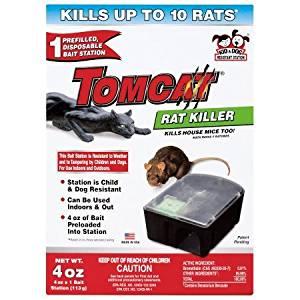 Rat Killer Tier 1 Disposable Rat Bait Station 3.12 x 5.50 x 7.75 Inches